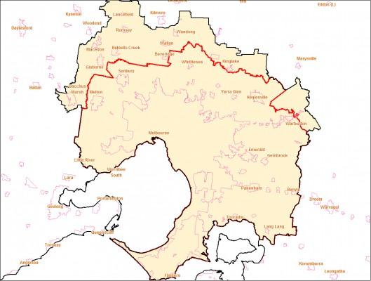 melbourne greater capital city boundary