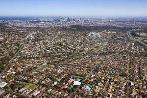 Melbourne aerial photo