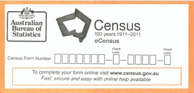 Australian 2011 eCensus