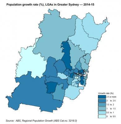 sydney population growth 2015